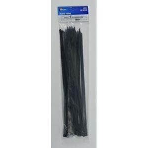 Pásky viazacie 400×7,6 mm, čierne, 50ks/bal.