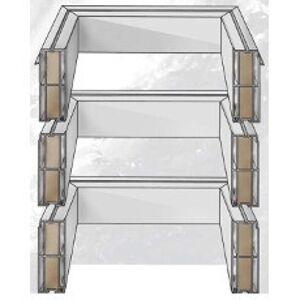 Podkladná kolmá PVC manžeta pre svetlíky ACG, V=45cm B=80x80 cm