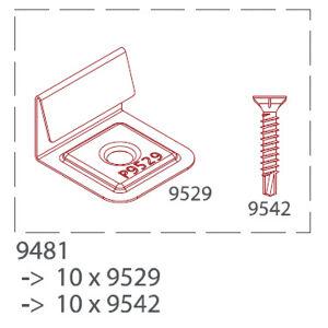 Začiatočná a koncová nerezová spona pre drevoplastové profily TWINSON (10ks/bal.) 9481