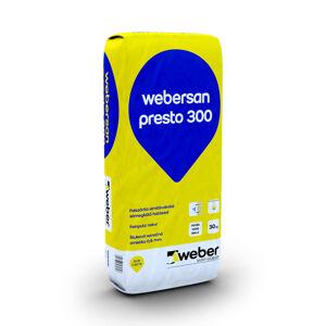 Štuková sanačná omietka Webersan presto 300, 30 kg