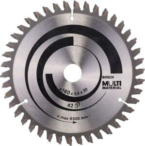 Kotúč pílový na rôzne materiály Bosch Standard for Multi Material 160×20/16×2,4 mm 42 zubov