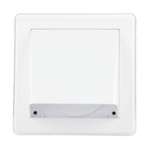 Vetracia mriežka gravitačná - klapka HACO 150x150 GK / 100 biela