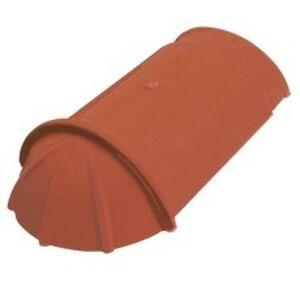 TONDACH koncový hladký hrebenáč 17 cm-kvapka medenohnedý (model Bobrovka, drážková Bobrovka)
