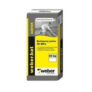 Jemný cementový poter Weberbat estrich betonový poter 20MPa, 25kg