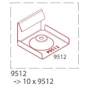 Začiatočná a koncová nerezová spona pre hliníkové profily TWINSON (10ks/bal.) 9512