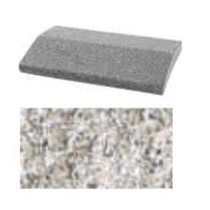 Soklová brokovaná krycia platňa PREMAC (40x26x5,5 cm) biela
