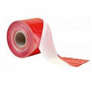 Výstražná páska červeno-biela 80 mm×250 m