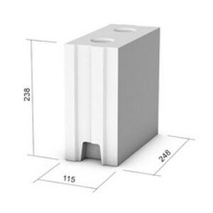 Vápenno-piesková tehla KMB SENDWIX 4DF-D ( 248x115x238 mm)